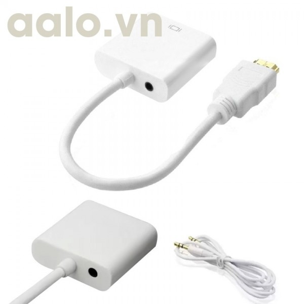 Dây mini HDMI ra VGA có Audio dài 20Cm