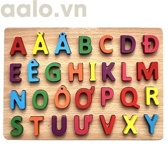 Combo bộ 2 Bảng Chữ Cái Tiếng Việt Bằng Gỗ cho bé yêu ( giúp bé phát triển và thông minh hơn) - aalo.vn