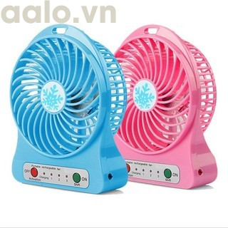 COMBO 3 QUẠT SẠC ( TẶNG KÈM 1 ĐÈN LED USB XINH XẮN) - aalo.vn