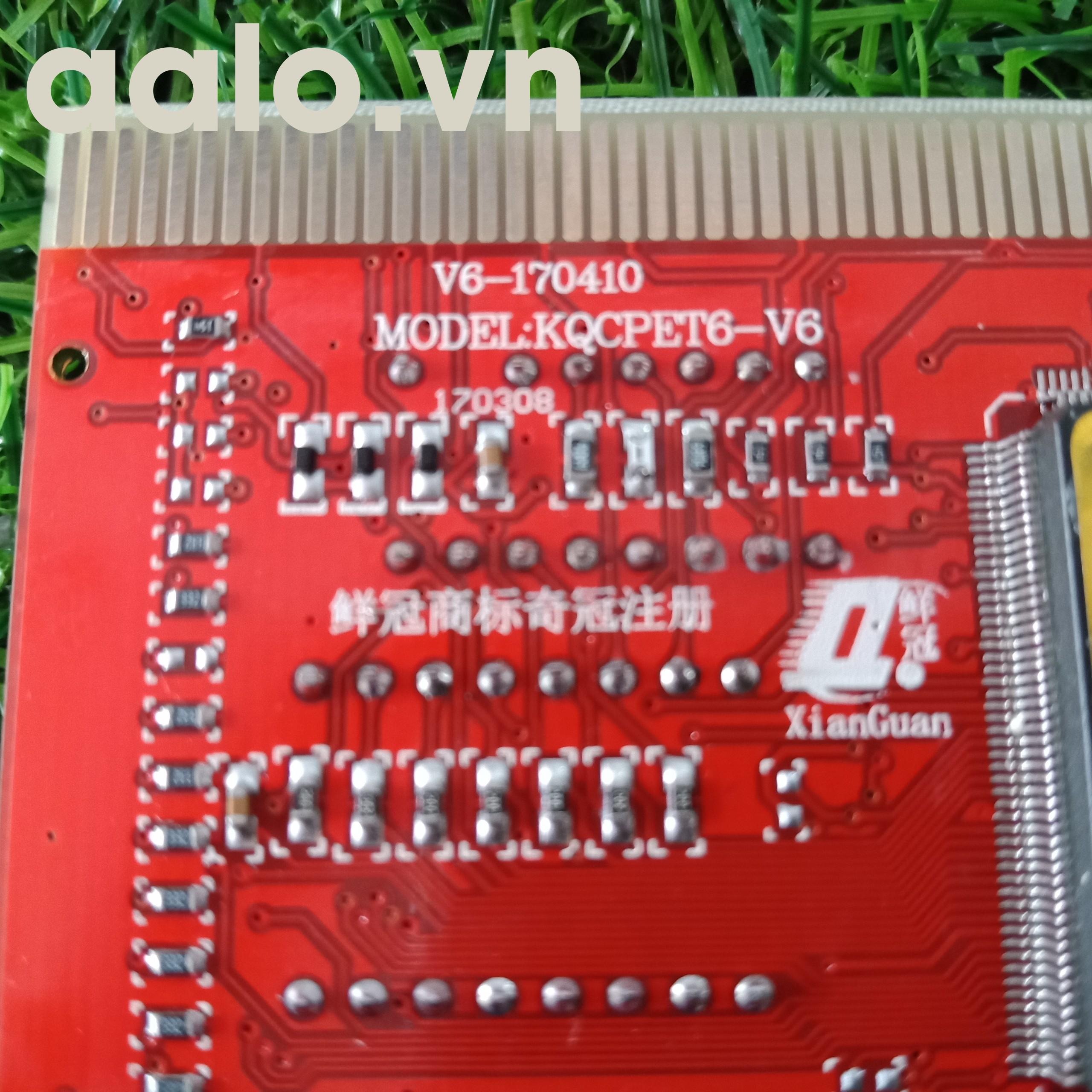 Card test main đa năng KQCPET6 V6 Loại B 3 trong 1 Điện thoại / Máy tính xách tay Máy tính / PC Máy tính để bàn phổ Thử nghiệm chẩn đoán Gỡ lỗi Vua bài PCI Card PCI-E LPC MiniPCI-E CE