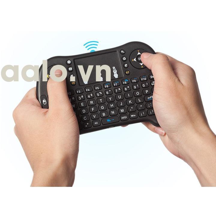 Chuột Bay Kiêm Bàn Phím Không Dây I8 Cho Smart Tivi & Android Box ( Có kèm pin sạc 5C + Cáp sạc nhanh) - aalo.vn
