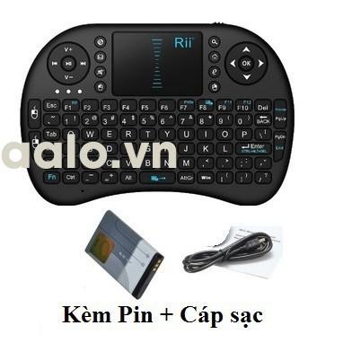 Bàn phím kiêm chuột bay I8 (Có đèn Led + Pin sạc 5C) dành cho Android TV box, Smart TV - aalo.vn