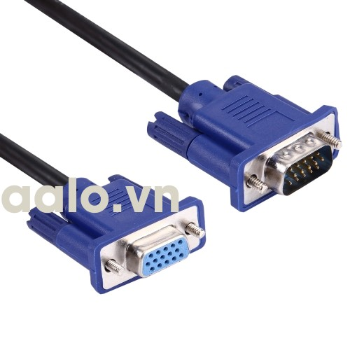 Cáp VGA 1.5m chất lượng cao High Speed dành cho màn hình và máy chiếu (Đen) - aalo.vn
